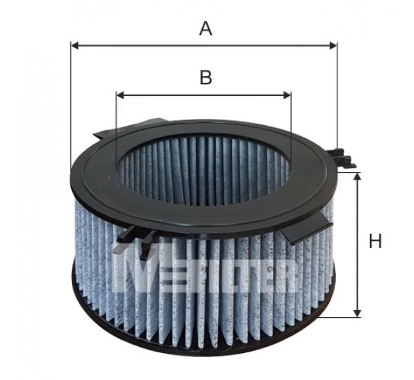 A 958C Фільтр салону вугільний