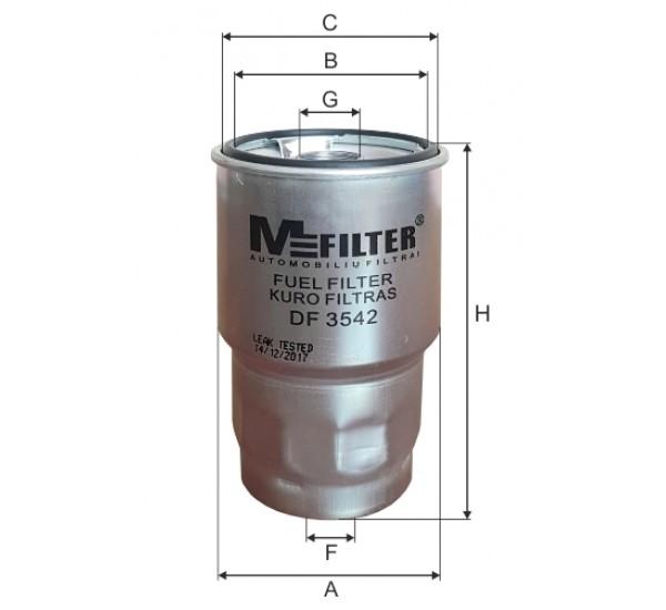 DF 3542  Фільтр для фільтрування палива у ДВЗ