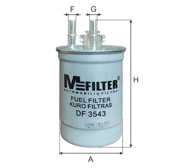 DF 3543  Фільтр для фільтрування палива у ДВЗ