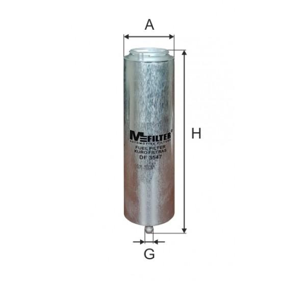DF 3547  Фільтр для фільтрування палива у ДВЗ