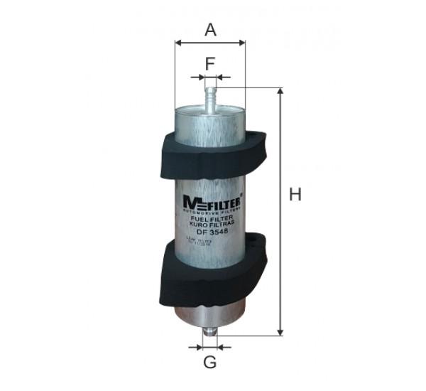 DF 3548  Фільтр для фільтрування палива у ДВЗ