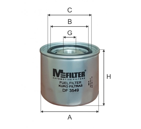 DF 3549  Фільтр для фільтрування палива у ДВЗ
