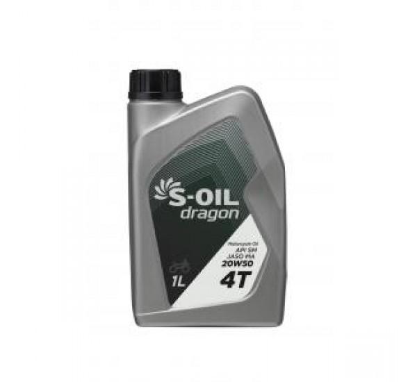 DRAGON 4T MOTOR OIL 20W50 Олива моторна синтетична 1л.