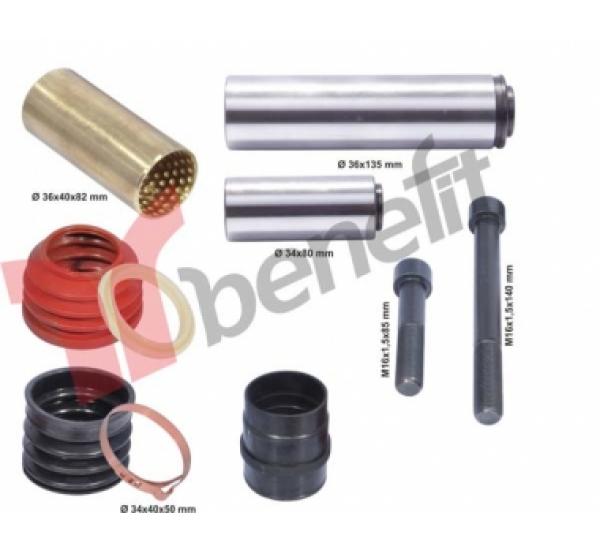 Knorr 1557 РМК направляючих і пильників суппорту, K000132, K0060, SB6-SB7(В-во BENEFIT)