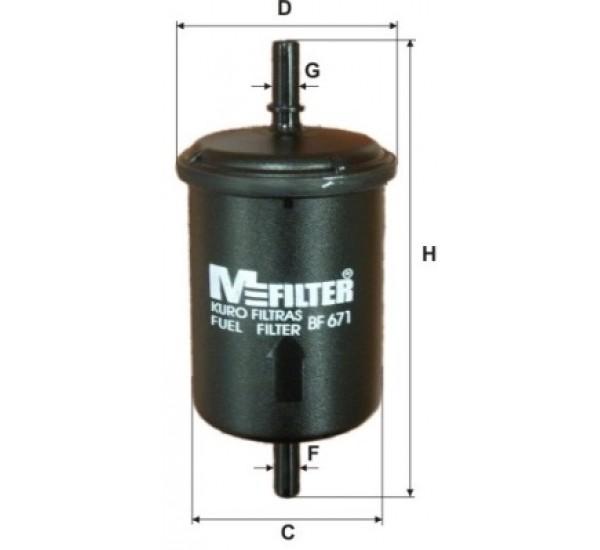 BF 671 Фільтр для фільтрування палива у ДВЗ