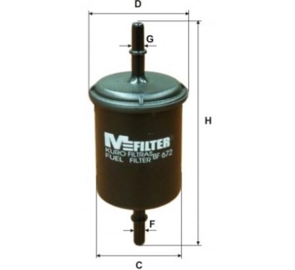 BF 672 Фільтр для фільтрування палива у ДВЗ