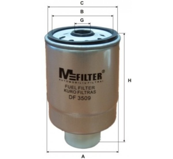 DF 3509 Фільтр паливний