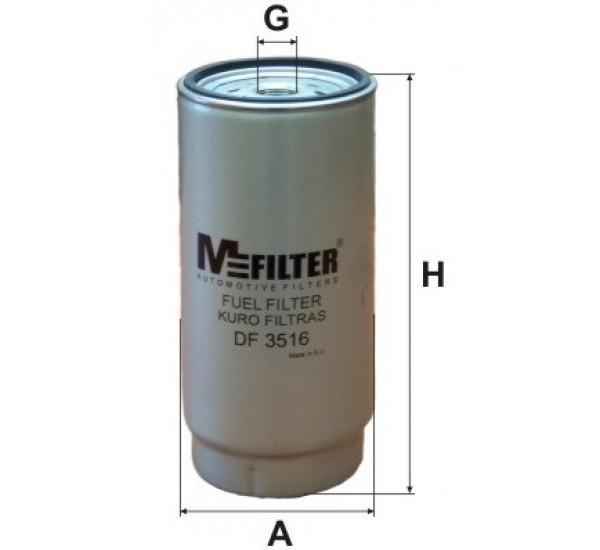 DF 3516 Фільтр для фільтрування палива у ДВЗ