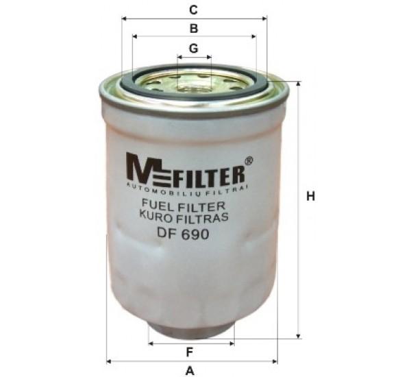 DF 690 Фільтр для фільтрування палива у ДВЗ