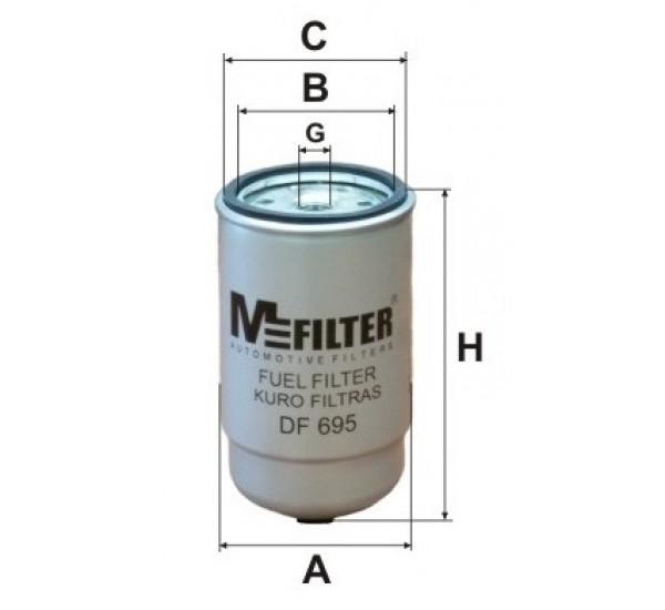 DF 695 Фільтр для фільтрування палива у ДВЗ