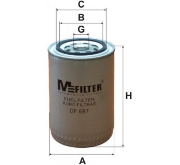 DF 697 Фільтр для фільтрування палива у ДВЗ