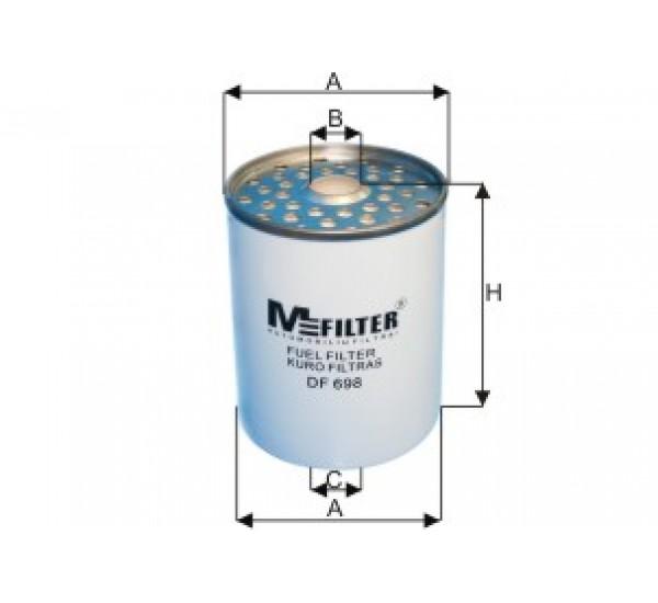 DF 698 Фільтр для фільтрування палива у ДВЗ