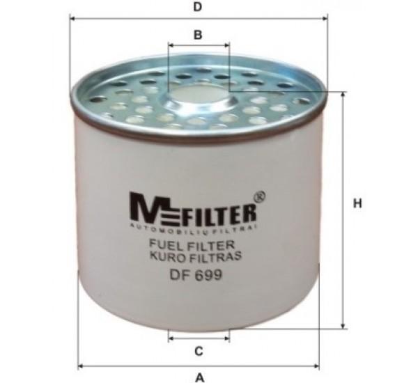 DF 699 Фільтр для фільтрування палива у ДВЗ