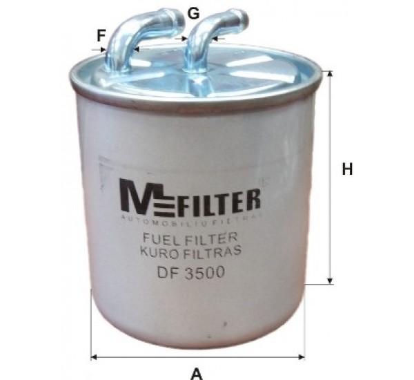DF 3500 Фільтр для фільтрування палива у ДВЗ