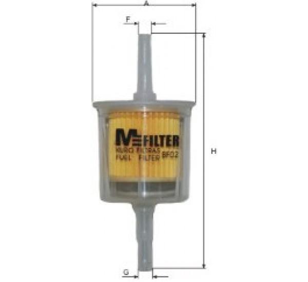 BF 02 Фільтр для фільтрування палива у ДВЗ
