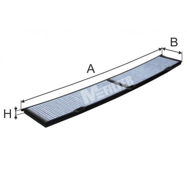 K 9033C Фільтр салона вугільний