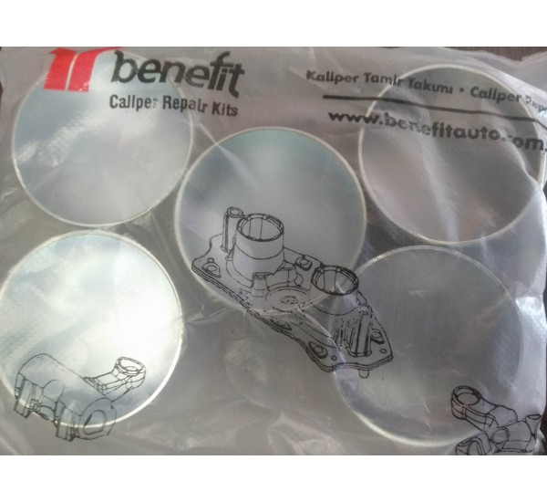 Knorr 1706 Заглушка суппорту металева 40x25  к-т 5шт,  ( В-во BENEFIT)