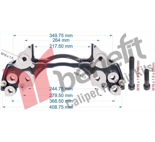Meritor 30513 Утримувач супорта ELSA195 - 225,  Volvo Truck FH16, 85109887, 5001866988, MCK1319,