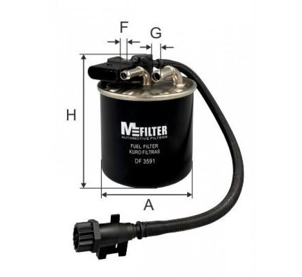 DF 3591 Фільтр для фільтрування палива у ДВЗ