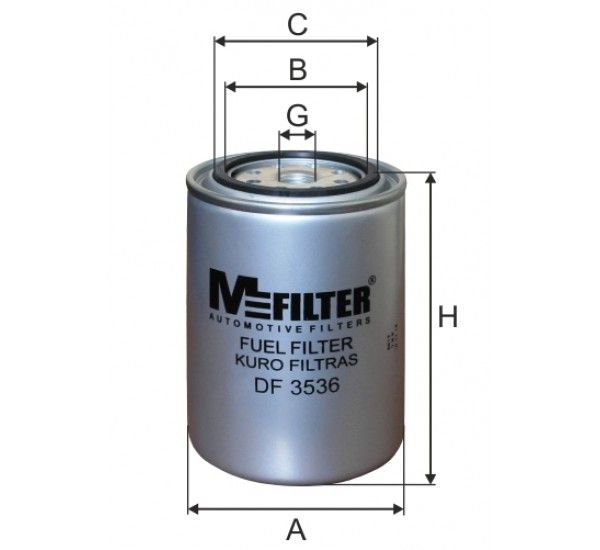 DF 3536 Фільтр для фільтрування палива у ДВЗ