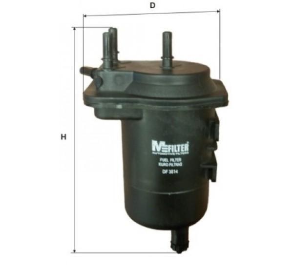 DF 3514/1 Фильтр топливный дизель (с отверстием под датчик) пластик