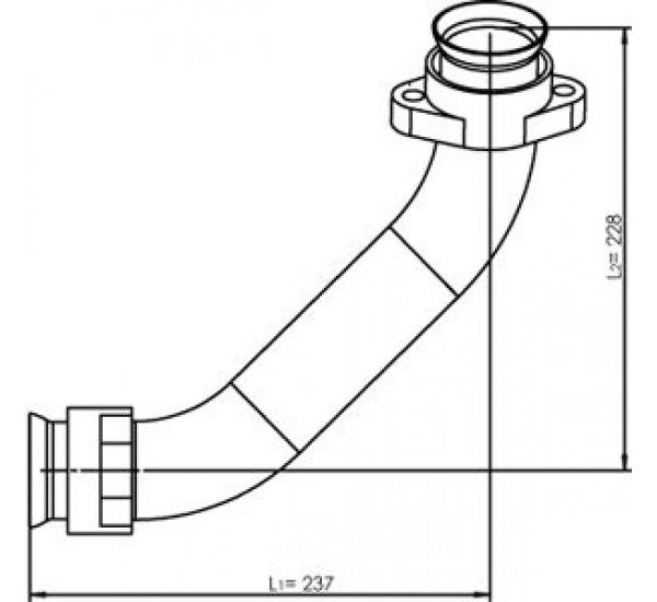 53174 Трубка турбины левая MB  (DINEX)