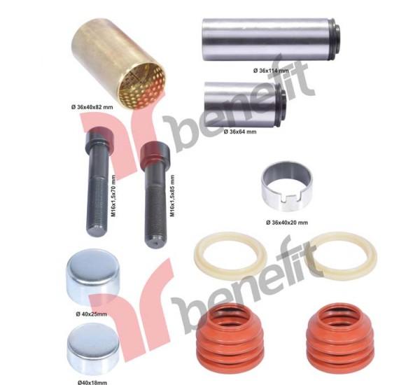 Knorr 1573 РМК направляючих і пильників супорту, K00410, K010766, MB0004205082, 3434381500, K0054