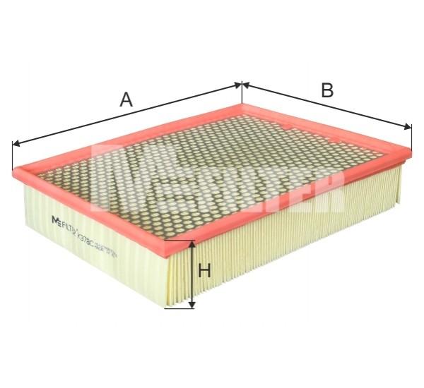 K 378C/1 Фильтр воздушный усиленный метал. сеткой для тяжелых условий эксплуатации