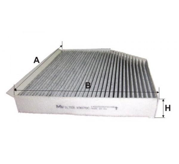 K 9070C Фільтр салона вугільний