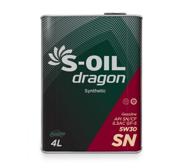 DRAGON SN 5W30  (steel) Олива моторна напівcинтетична 4л.