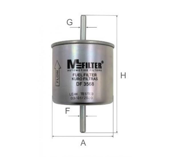 DF 3568 Фільтр для фільтрування палива у ДВЗ