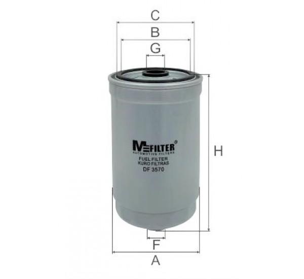 DF 3570 Фільтр для фільтрування палива у ДВЗ