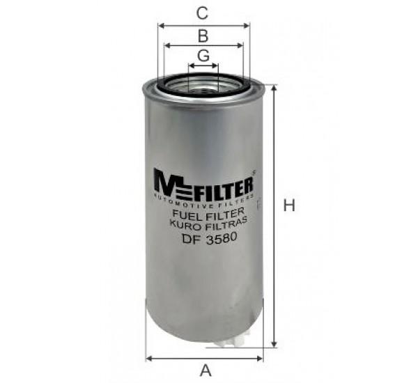 DF 3580 Фільтр для фільтрування палива у ДВЗ