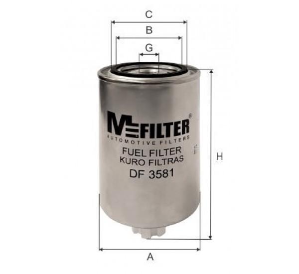 DF 3581 Фільтр для фільтрування палива у ДВЗ
