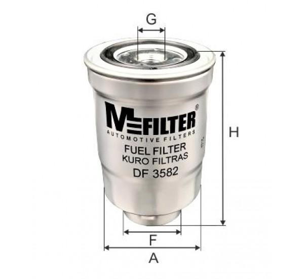DF 3582 Фільтр для фільтрування палива у ДВЗ