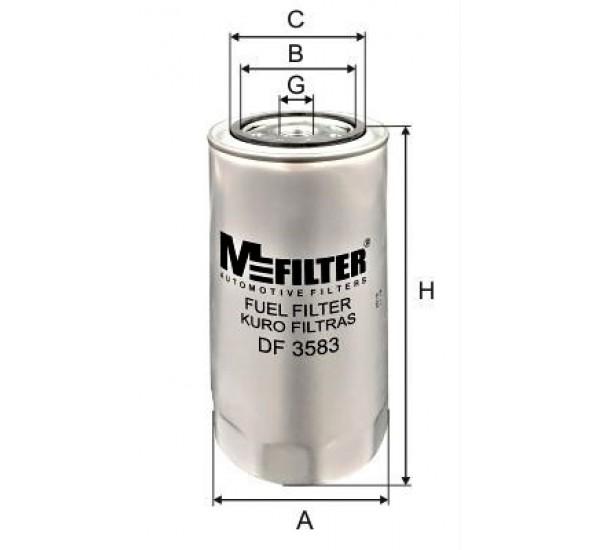 DF 3583 Фільтр для фільтрування палива у ДВЗ