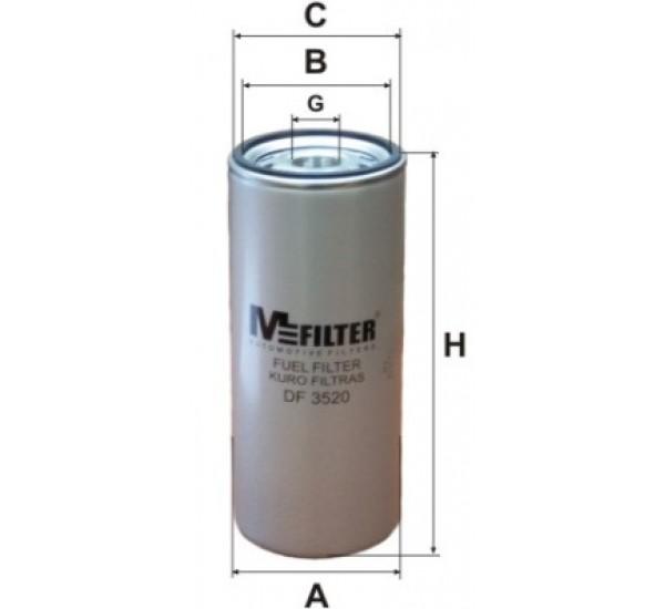 DF 3520 Фільтр для фільтрування палива у ДВЗ