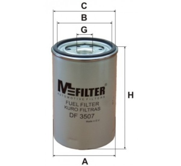 DF 3507 Фільтр для фільтрування палива у ДВЗ