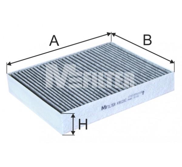 K 9121C Фільтр салона вугільний