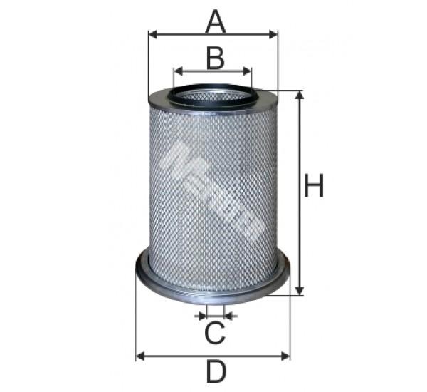 A 8074 Фільтр забору повітря для ДВЗ