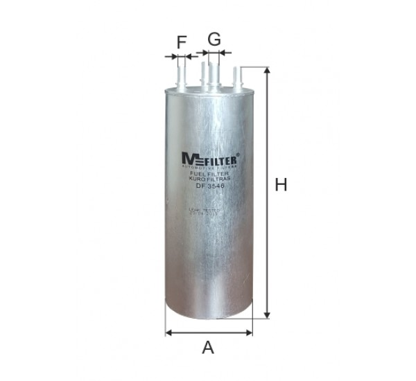 DF 3546  Фільтр для фільтрування палива у ДВЗ