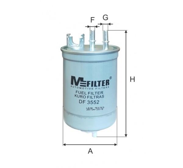 DF 3552  Фільтр для фільтрування палива у ДВЗ
