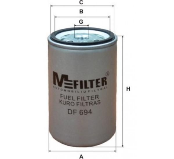 DF 694 Фільтр для фільтрування палива у ДВЗ