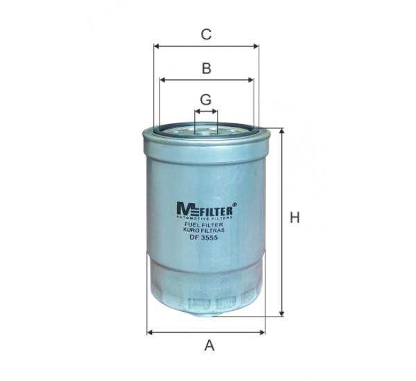 DF 3555  Фільтр для фільтрування палива у ДВЗ