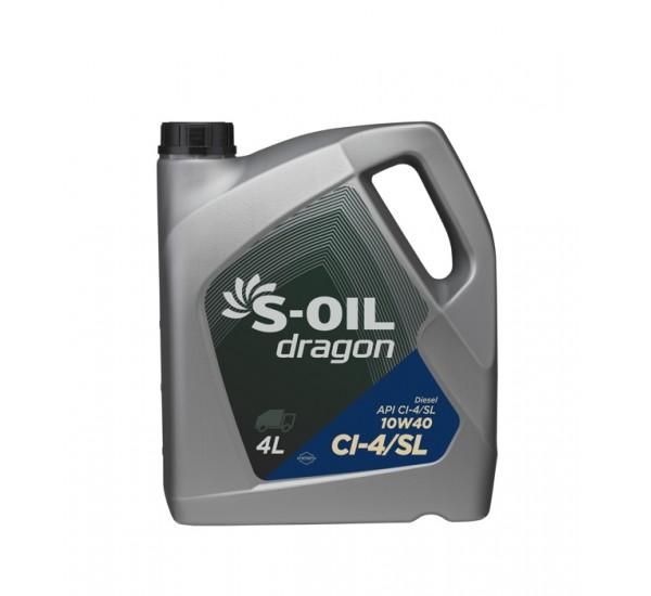 DRAGON CI-4/SL 10W40 Олива моторна полусинтетична 4 л.