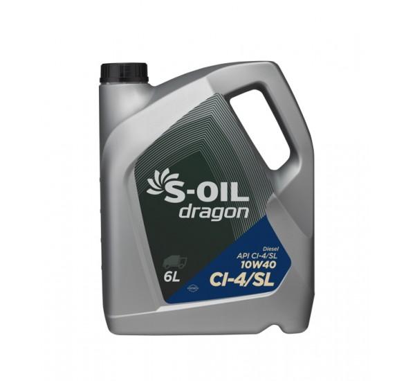 DRAGON CI-4/SL 10W40 Олива моторна напівсинтетична 6 л.