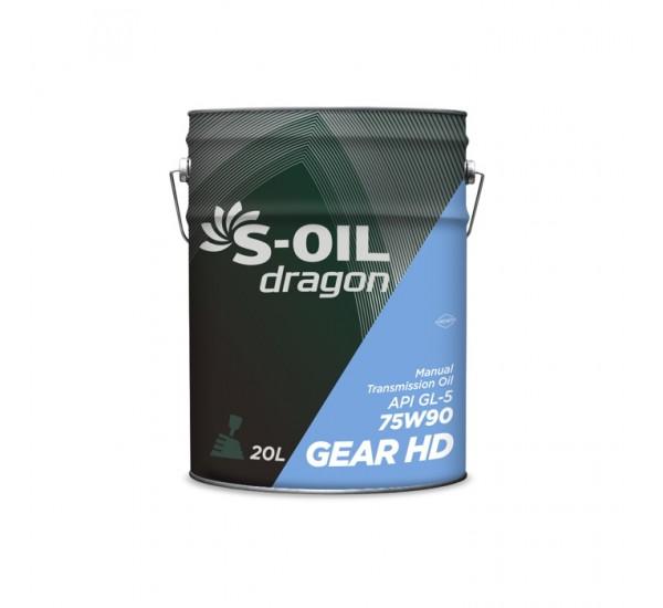DRAGON GEAR HD 75W90 трансмиссионная синтетика 20л