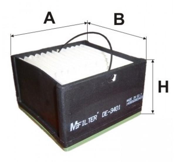DE 3401 Фільтр для фільтрування палива у ДВЗ