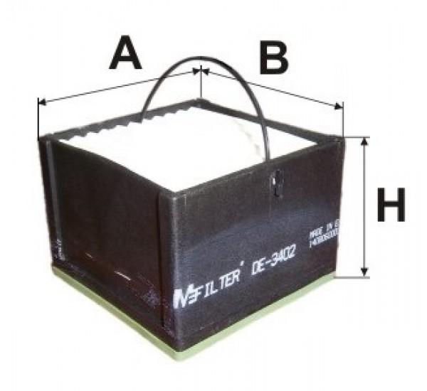 DE 3402 Фільтр для фільтрування палива у ДВЗ