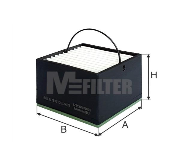DE 3403 Фільтр для фільтрування палива у ДВЗ